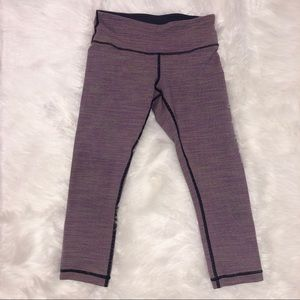 Lululemon mini stripe cropped leggings